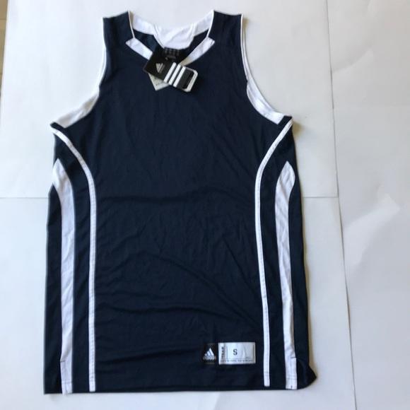 Adidas Climalite Pro Team Basketball Jersey Navy